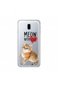 Husa Samsung Galaxy J6 Plus Lemontti Silicon Art Meow With Love