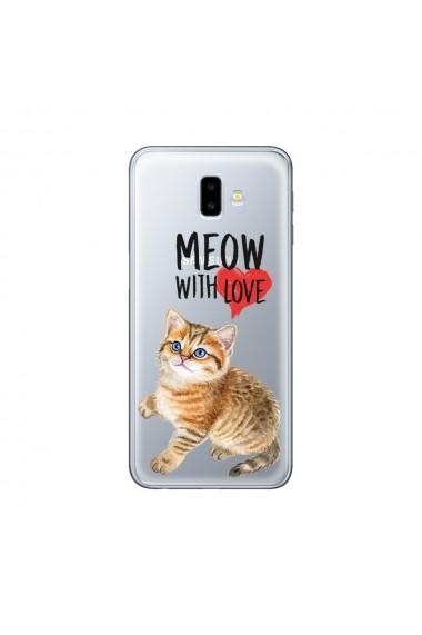 Husa Samsung Galaxy J6 Plus Lemontti Silicon Art Meow With Love
