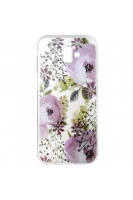 Husa Samsung Galaxy J6 Plus Lemontti Silicon Art Flowers