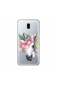 Husa Samsung Galaxy J6 Plus Lemontti Silicon Art Watercolor Unicorn