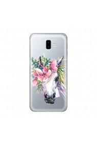 Husa Samsung Galaxy J6 Plus Lemontti Silicon Art Watercolor Unicorn