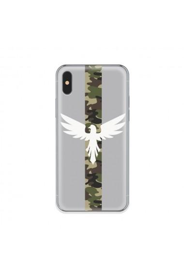 Husa iPhone XS / X Lemontti Silicon Art Army Eagle