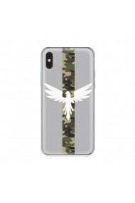 Husa iPhone XS / X Lemontti Silicon Art Army Eagle