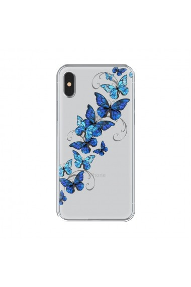 Husa iPhone XS / X Lemontti Silicon Art Butterflies