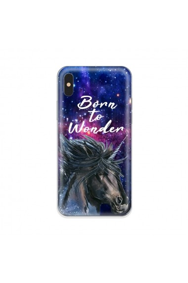 Husa iPhone XS / X Lemontti Silicon Art Born To Wonder