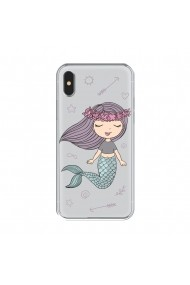 Husa iPhone XS / X Lemontti Silicon Art Little Mermaid