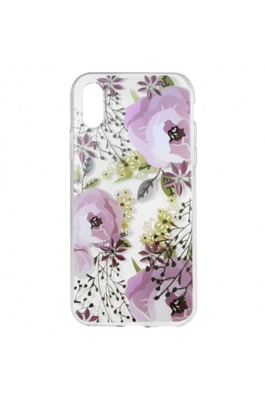 Husa iPhone XS / X Lemontti Silicon Art Flowers