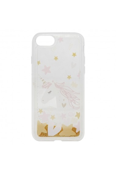 Carcasa iPhone 8 / 7 Lemontti Liquid Sand Unicorn Glitter