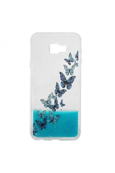 Carcasa Samsung Galaxy J4 Plus Lemontti Liquid Sand Butterflies Glitter