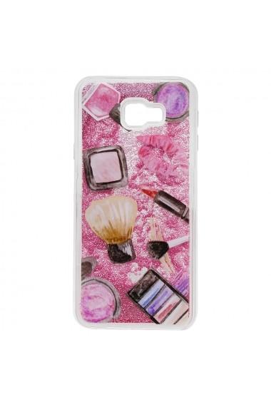 Carcasa Samsung Galaxy J4 Plus Lemontti Liquid Sand Makeup Glitter