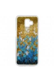 Carcasa Samsung Galaxy J6 Plus Lemontti Liquid Sand Blue Flowers