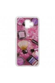 Carcasa Samsung Galaxy J6 Plus Lemontti Liquid Sand Makeup Glitter