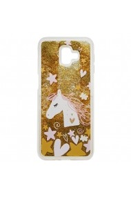 Carcasa Samsung Galaxy J6 Plus Lemontti Liquid Sand Unicorn Glitter