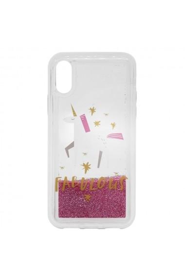 Carcasa iPhone XS / X Lemontti Liquid Sand Fabulous Glitter