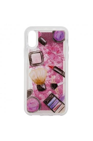 Carcasa iPhone XS / X Lemontti Liquid Sand Makeup Glitter