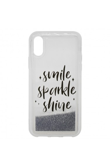 Carcasa iPhone XS / X Lemontti Liquid Sand Smile  Sparkle  Shine