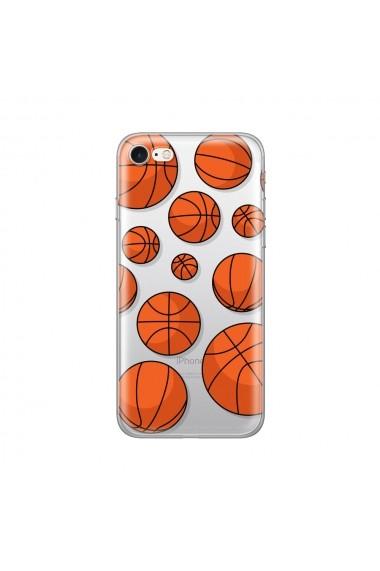 Husa iPhone SE 2 / 8 / 7 Lemontti Silicon Art Basketball