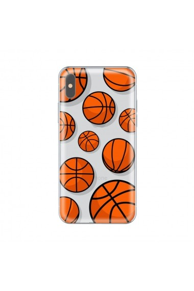 Husa iPhone X Lemontti Silicon Art Basketball