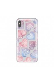 Husa iPhone X Lemontti Silicon Art Hearts