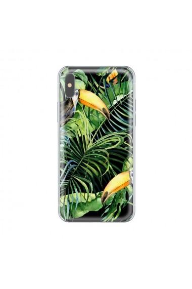 Husa iPhone X Lemontti Silicon Art Tropic