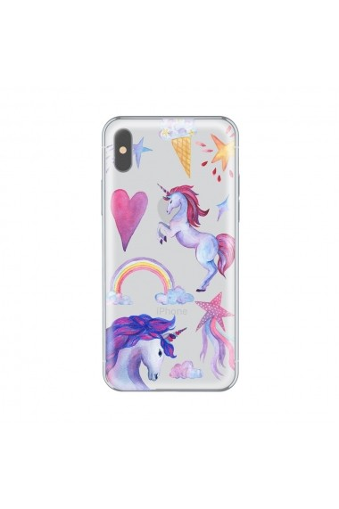 Husa iPhone X Lemontti Silicon Art Unicorn