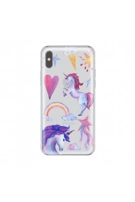 Husa iPhone X Lemontti Silicon Art Unicorn