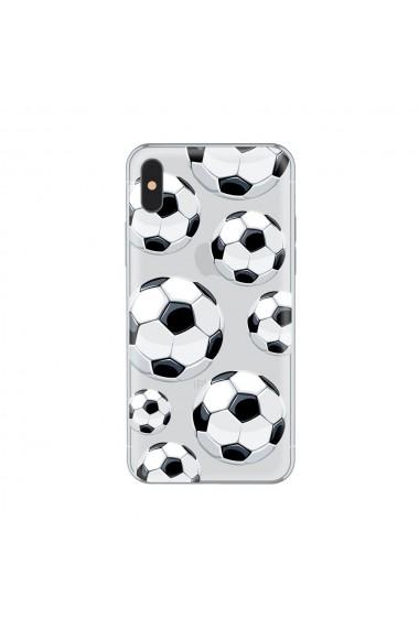 Husa iPhone X Lemontti Silicon Art Football