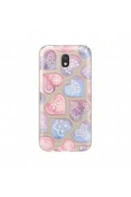 Husa Samsung Galaxy J3 (2017) Lemontti Silicon Art Hearts