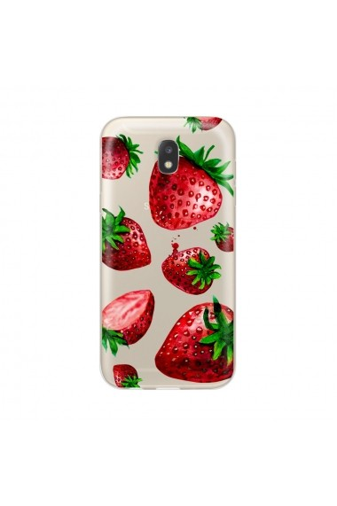Husa Samsung Galaxy J3 (2017) Lemontti Silicon Art Strawberries