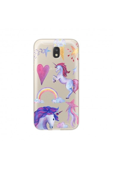 Husa Samsung Galaxy J5 (2017) Lemontti Silicon Art Unicorn