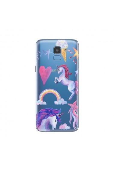 Husa Samsung Galaxy J6 (2018) Lemontti Silicon Art Unicorn