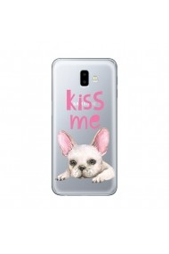 Husa Samsung Galaxy J6 Plus Lemontti Silicon Art Pug Kiss