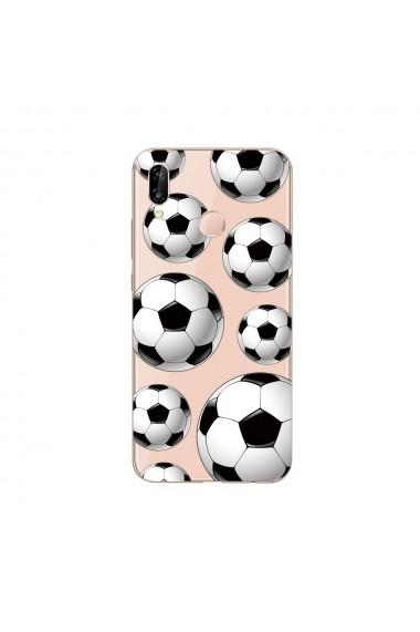 Husa Huawei P20 Lite Lemontti Silicon Art Football