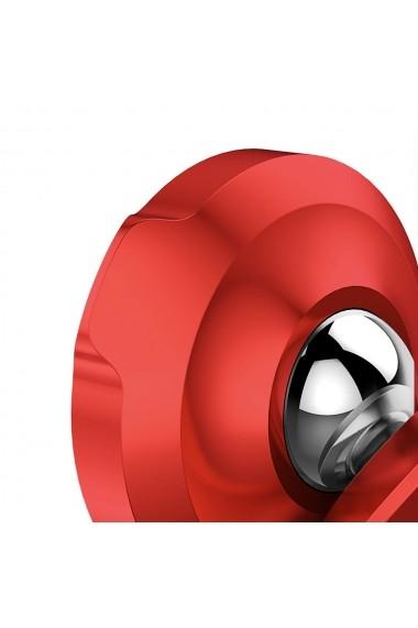 Suport Baseus Auto Small Ears Magnetic Red (rotatie 360  prindere la sistemul de ventilatie)