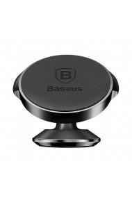 Suport Baseus Auto Small Ears Magnetic Black (piele naturala  rotatie 360�  cu adeziv)