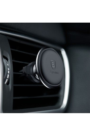 Suport Baseus Auto Magnetic Air Vent Black (rotatie 360  cable clip  prindere la sistemul de ventil
