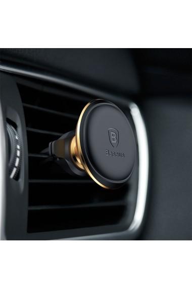 Suport Baseus Auto Magnetic Air Vent Gold (rotatie 360  cable clip  prindere la sistemul de ventila