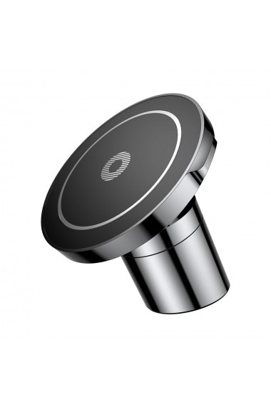 Suport Baseus Auto Magnetic cu Wireless Charger Black (incarcare Qi si QC 2.0  prindere la sistemul