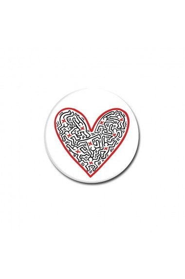 Suport Popsockets Stand Adeziv Cross My Heart by Keith Haring