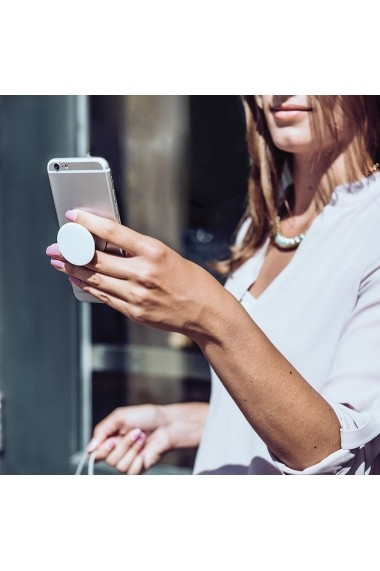 Suport Popsockets PopGrip Premium Stand Adeziv Carbonite Weave