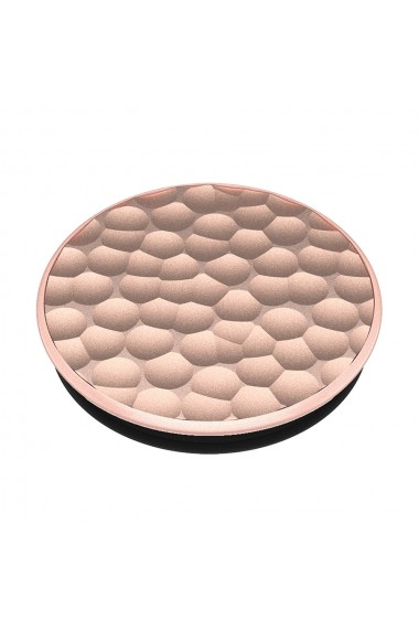 Suport Popsockets PopGrip Luxe Stand Adeziv Hammered Metal Rose Gold