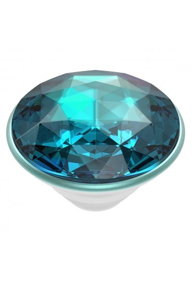 Suport Popsockets PopGrip Premium Stand Adeziv Disco Crystal Blue