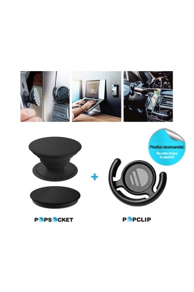Suport Popsockets PopGrip Luxe Stand Adeziv Genuine Rose Quartz