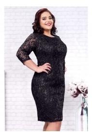 Rochie Per Donna din dantela cu fir lame - Marlo 81000 Neagra