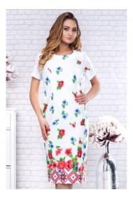 Rochie pe corp cu imprimeu floral - Marta