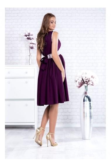 Rochie de seara Per Donna pentru gravide cu banda din dantela in talie - Lorelay 91504 Mov