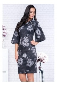 Rochie din tricot cu maneci evazate-Melania 81235