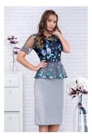 Rochie cu peplum in talie - Jimena 91488 Florala
