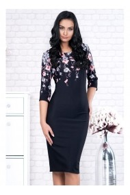 Rochie pe corp cu imprimeu floral-Adina 91399