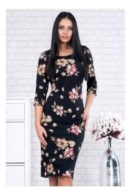 Rochie pe corp cu imprimeu floral - Ariela 91582